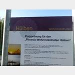 Tafel am Stellplatz Hülben