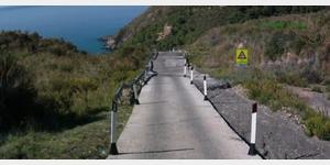 Steilstück bei Ascea, Sicht beim Rückwärtsfahren
