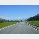 auf der 161 am südlichen Ortsrand von Kitzbühel