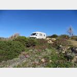 Stellplatz auf dem Campingplatz Isuledda