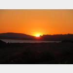 Sonnenaufgang am Campingplatz Baia Blu La Tortuga