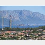 Blick zum Hafen von Arbatax