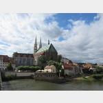 Blick von Polen auf die Peterskirche in Görlitz