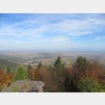 Blick vom Mont Ste-Odile über die Vogesen und das Rheintal