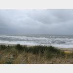 viel Wind am Strand von Wenningstedt
