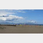 Kitesurfer am Strand von CampingAquarius