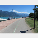 Fahrradstrasse am Lac d´Annecy