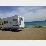 Stellplatz direkt am Strand La Isleta del Moro