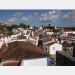 Blick von der Festungsmauer auf Obidos