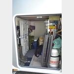 Noch viel Platz für Angelzeug in der Garage