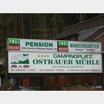 Eingang Campingplatz Ostrauer Mühle