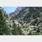 Wanderweg an der Bahnstrecke Queralbs-Nuria